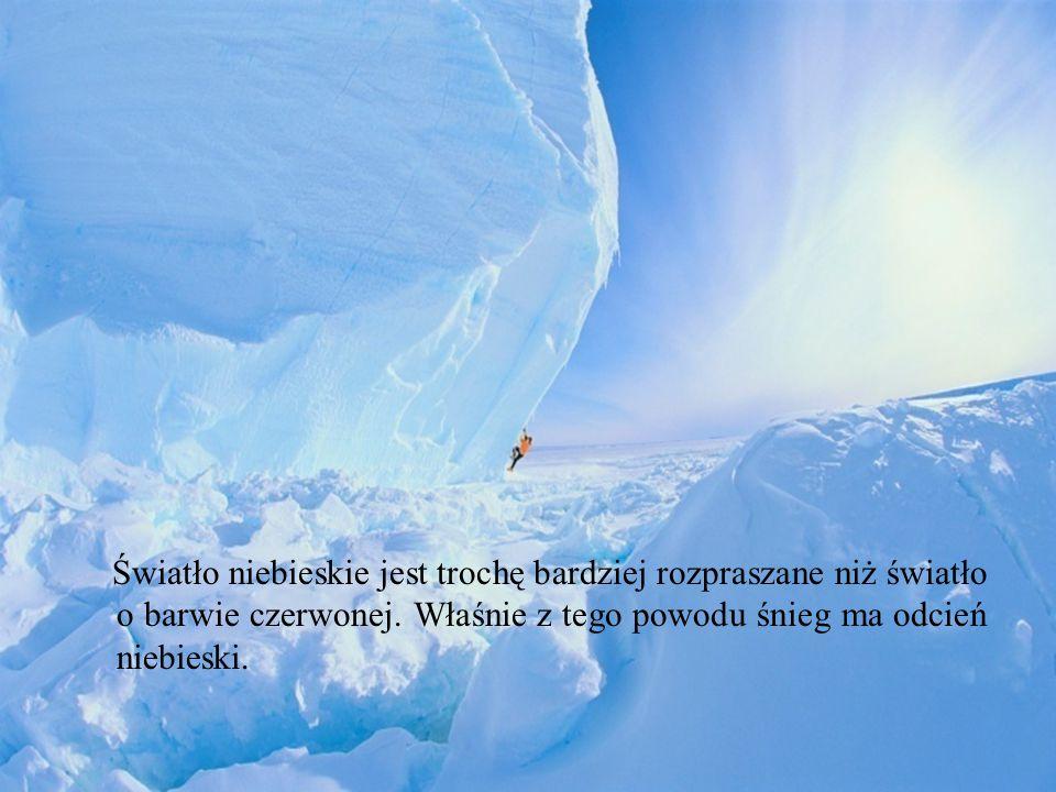 Śnieg, cukier, sól Śnieg jest biały z tego samego powodu, z jakiego biały jest cukier, sól czy papier.
