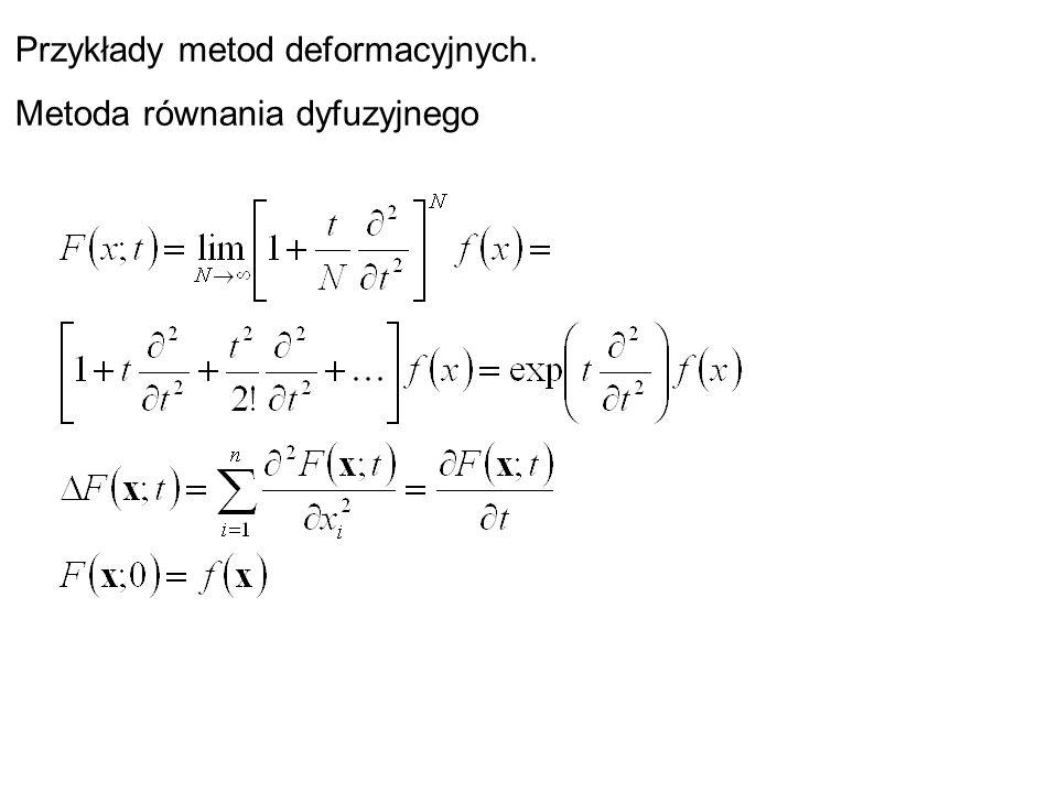 Przykłady metod deformacyjnych. Metoda równania dyfuzyjnego
