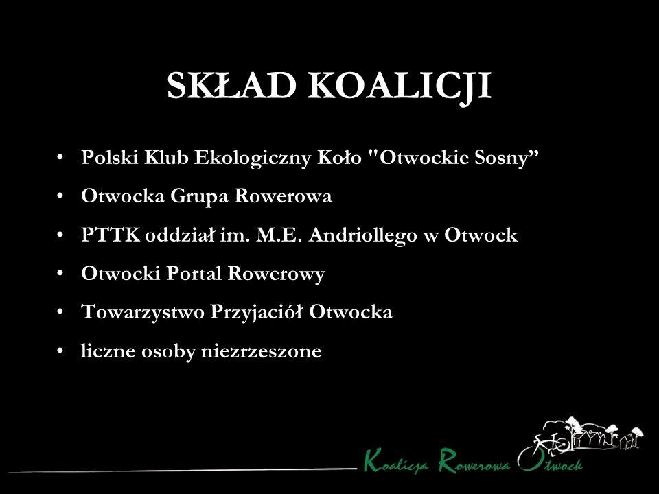 SKŁAD KOALICJI Polski Klub Ekologiczny Koło Otwockie Sosny Otwocka Grupa Rowerowa PTTK oddział im.