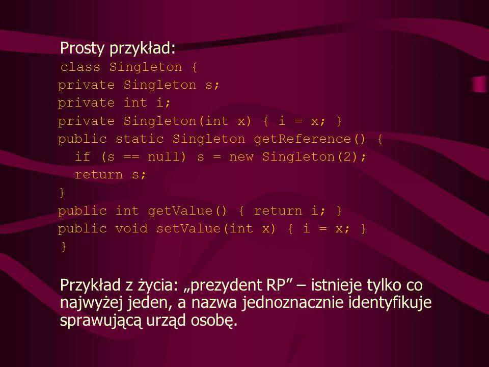 Przykład: zamknięcie wielu obiektów w jednym (przetwarzanie ich osobno skrajnie nieefektywne z powodu dużej ich ilości) class DataPoint { private static int count = 0; private int id = count++; private int i; private float f; public int getI() { return i; } public void setI(int i) { this.i = i; } public float getF() { return f; } public void setF(float f) { this.f = f; } public String toString() { return id: + id + , i = + i + , f = + f; } public class ManyObjects { static final int size = 1000000; public static void main(String[] args) { DataPoint[] array = new DataPoint[size]; for(int i = 0; i < array.length; i++) array[i] = new DataPoint(); for(int i = 0; i < array.length; i++) { DataPoint dp = array[i]; dp.setI(dp.getI() + 1); dp.setF(47.0f); } System.out.println(array[size -1]); }