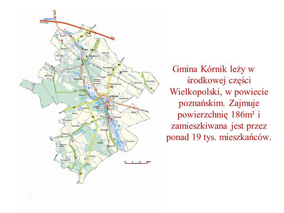 Gmina Kórnik leży w środkowej części Wielkopolski, w powiecie poznańskim.