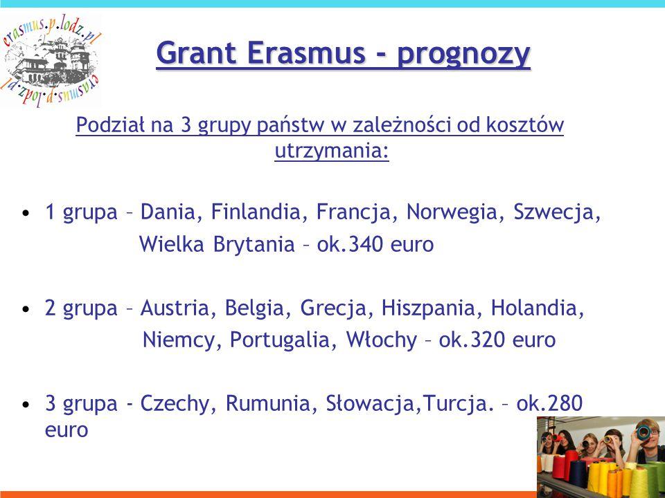 Podział na 3 grupy państw w zależności od kosztów utrzymania: 1 grupa – Dania, Finlandia, Francja, Norwegia, Szwecja, Wielka Brytania – ok.340 euro 2 grupa – Austria, Belgia, Grecja, Hiszpania, Holandia, Niemcy, Portugalia, Włochy – ok.320 euro 3 grupa - Czechy, Rumunia, Słowacja,Turcja.