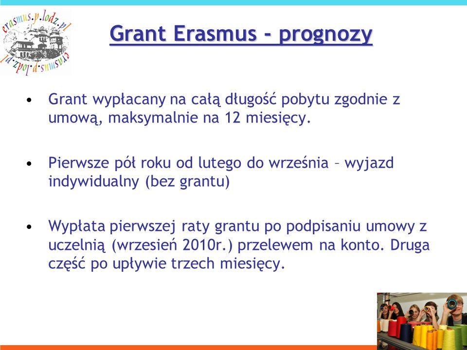 Grant wypłacany na całą długość pobytu zgodnie z umową, maksymalnie na 12 miesięcy.