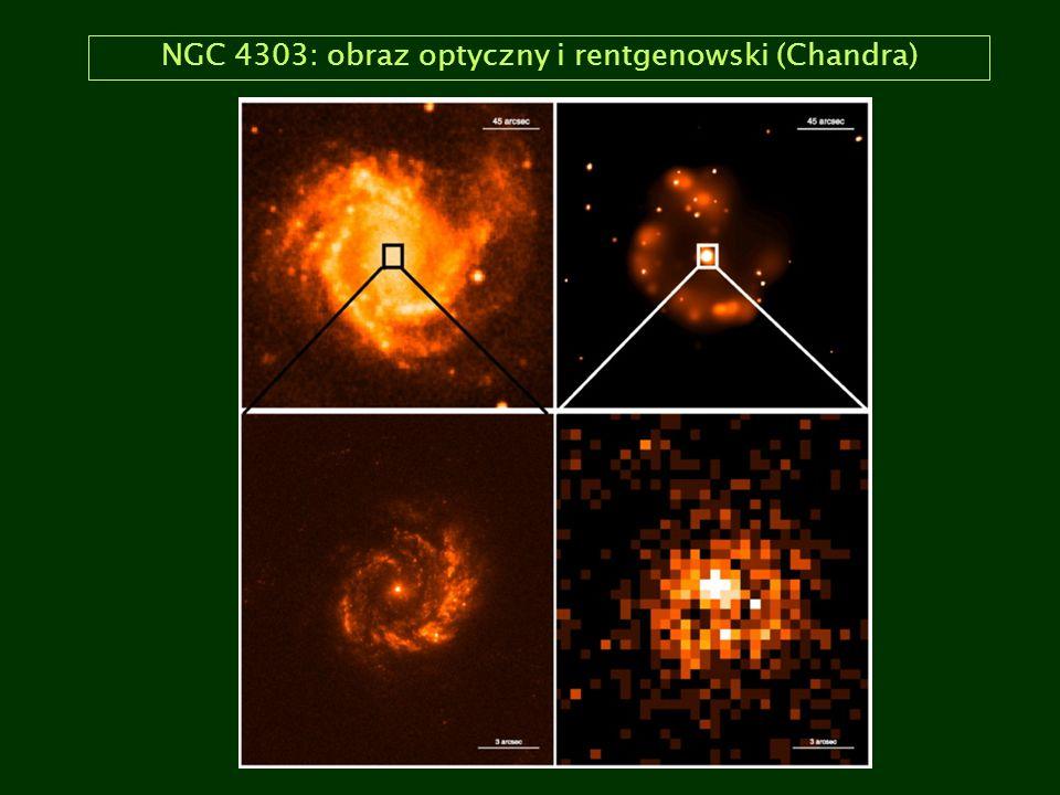 NGC 4303: obraz optyczny i rentgenowski (Chandra)