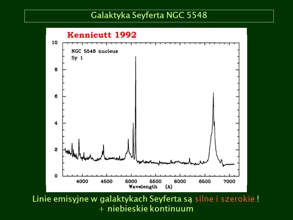LINER-y: NGC 4261 LINER = Low Ionization Nuclear Emission-line Region zdefiniowane przez Heckmana (1980, A&A 87, 152).
