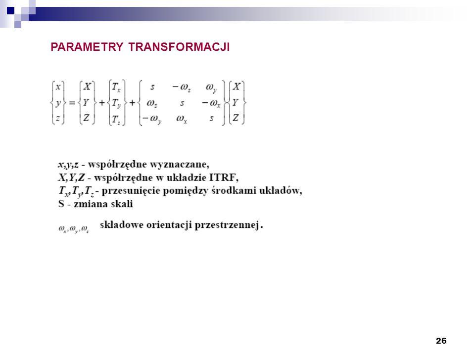 26 PARAMETRY TRANSFORMACJI