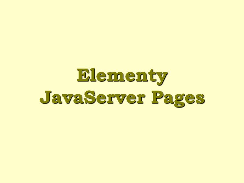 Elementy JavaServer Pages