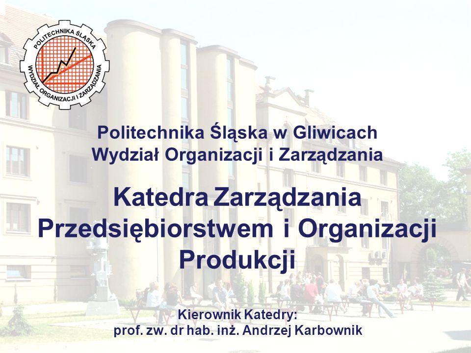 Katedra Zarządzania Przedsiębiorstwem i Organizacji Produkcji Zapraszamy do współpracy.