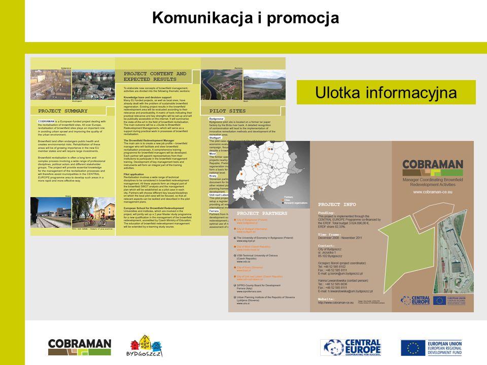 Komunikacja i promocja Ulotka informacyjna