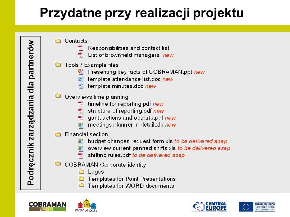 Przydatne przy realizacji projektu Podręcznik zarządzania dla partnerów