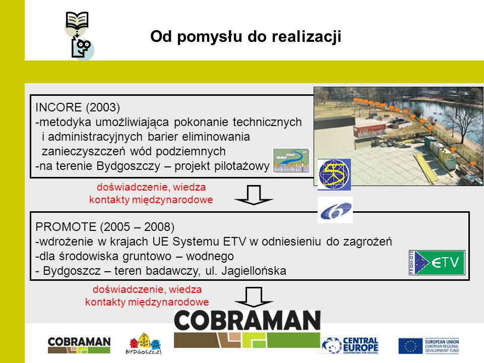 Projekt COBRAMAN w This project is implemented through the CENTRAL EUROPE Programme co-financed by the ERDF.