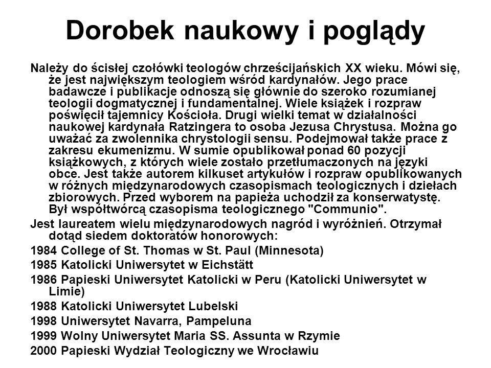 Joseph Ratzinger i Polska Przed swoim wyborem na papieża Joseph Ratzinger ośmiokrotnie odwiedzał Polskę.