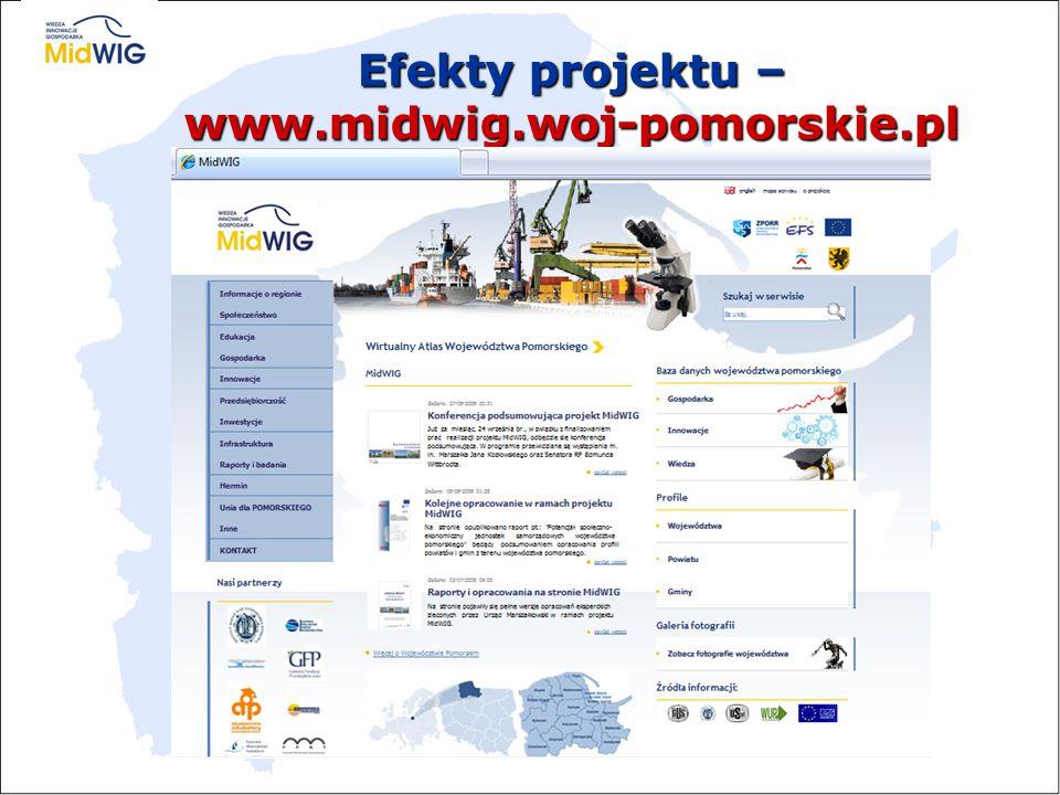 Efekty projektu – www.midwig.woj-pomorskie.pl