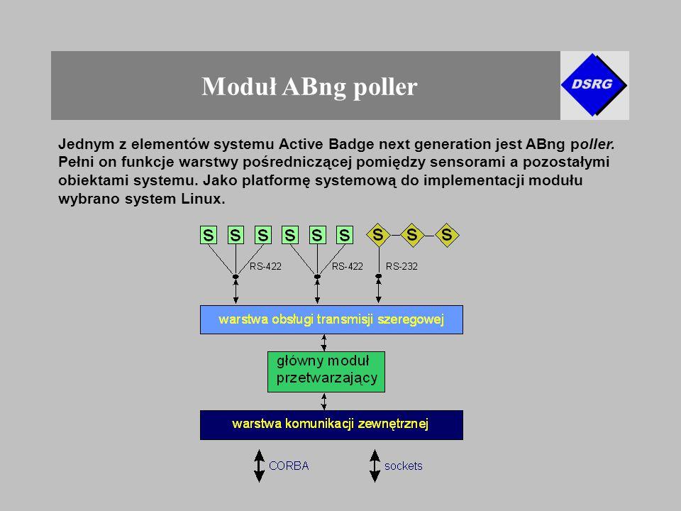 Moduł ABng poller Jednym z elementów systemu Active Badge next generation jest ABng poller.