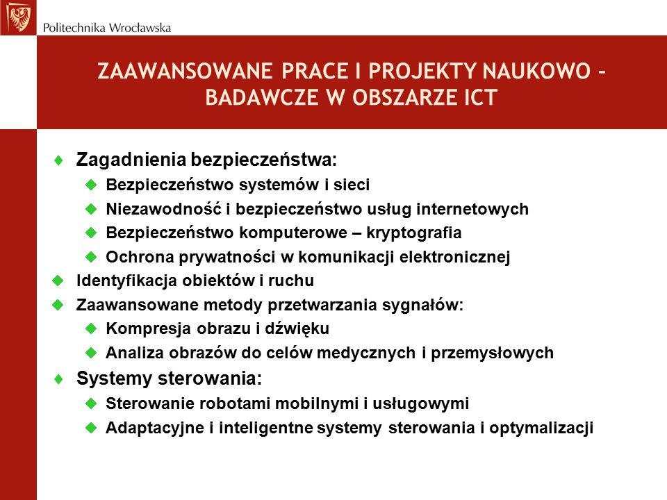  Zagadnienia bezpieczeństwa:  Bezpieczeństwo systemów i sieci  Niezawodność i bezpieczeństwo usług internetowych  Bezpieczeństwo komputerowe – kry