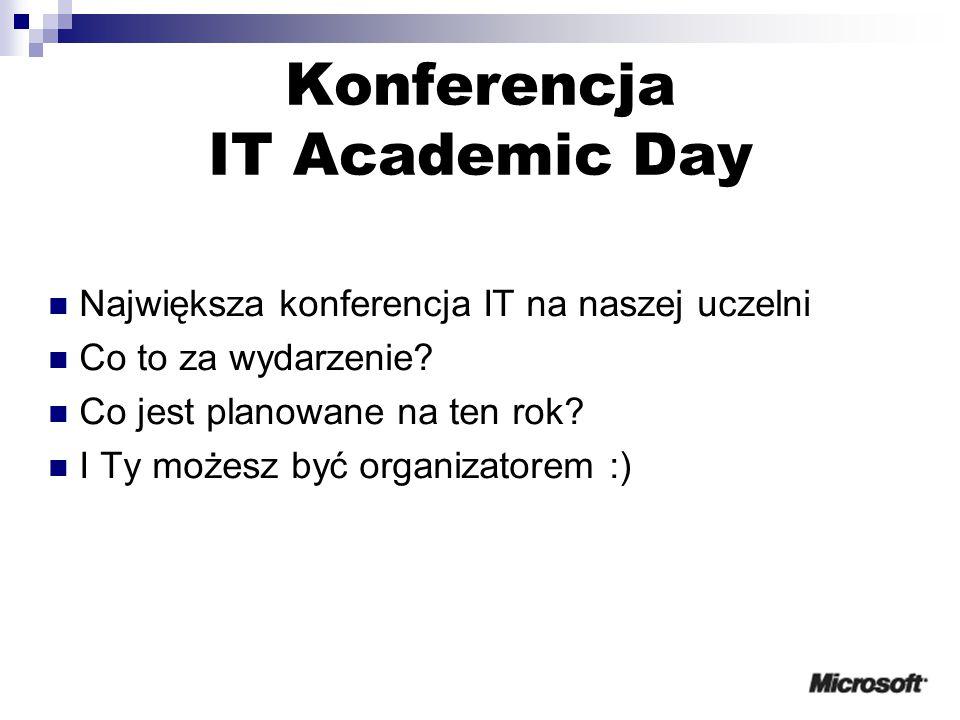 Konferencja IT Academic Day Największa konferencja IT na naszej uczelni Co to za wydarzenie.