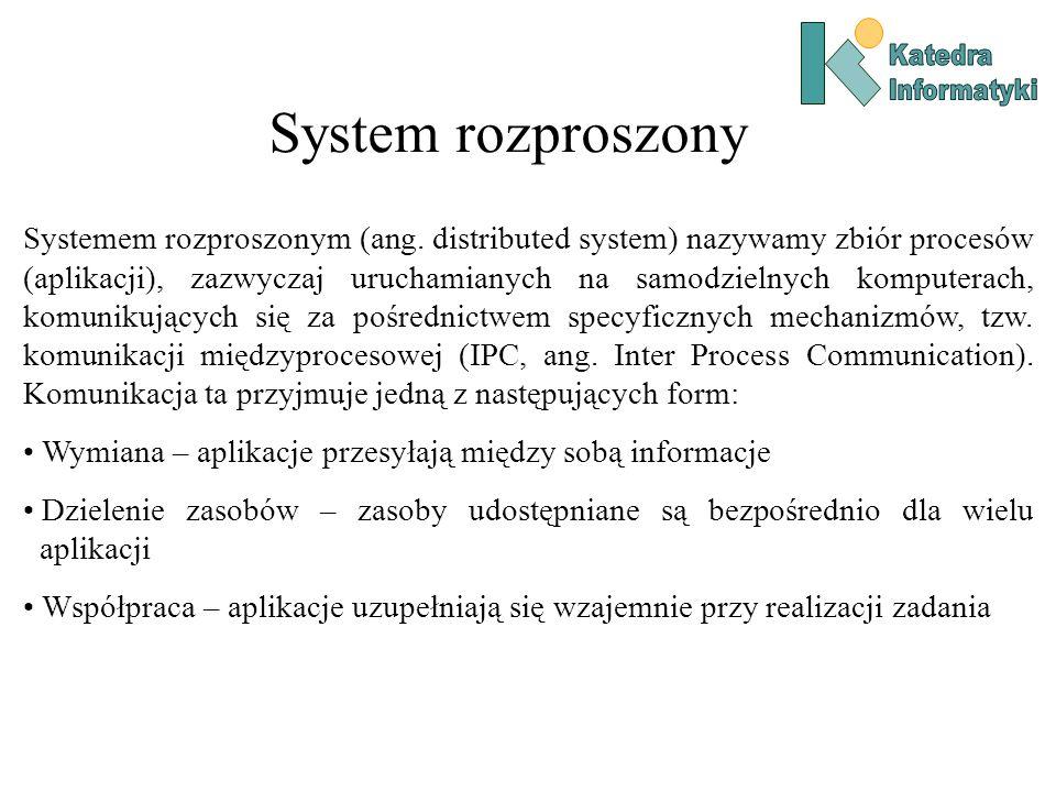 System rozproszony Systemem rozproszonym (ang.