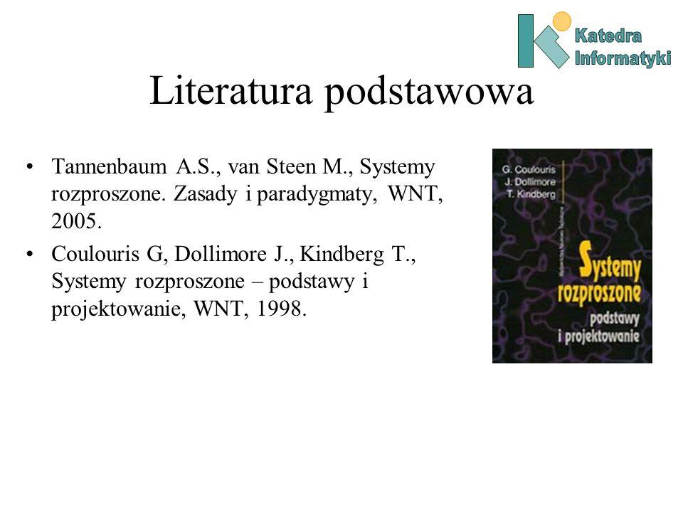 Literatura podstawowa Tannenbaum A.S., van Steen M., Systemy rozproszone.