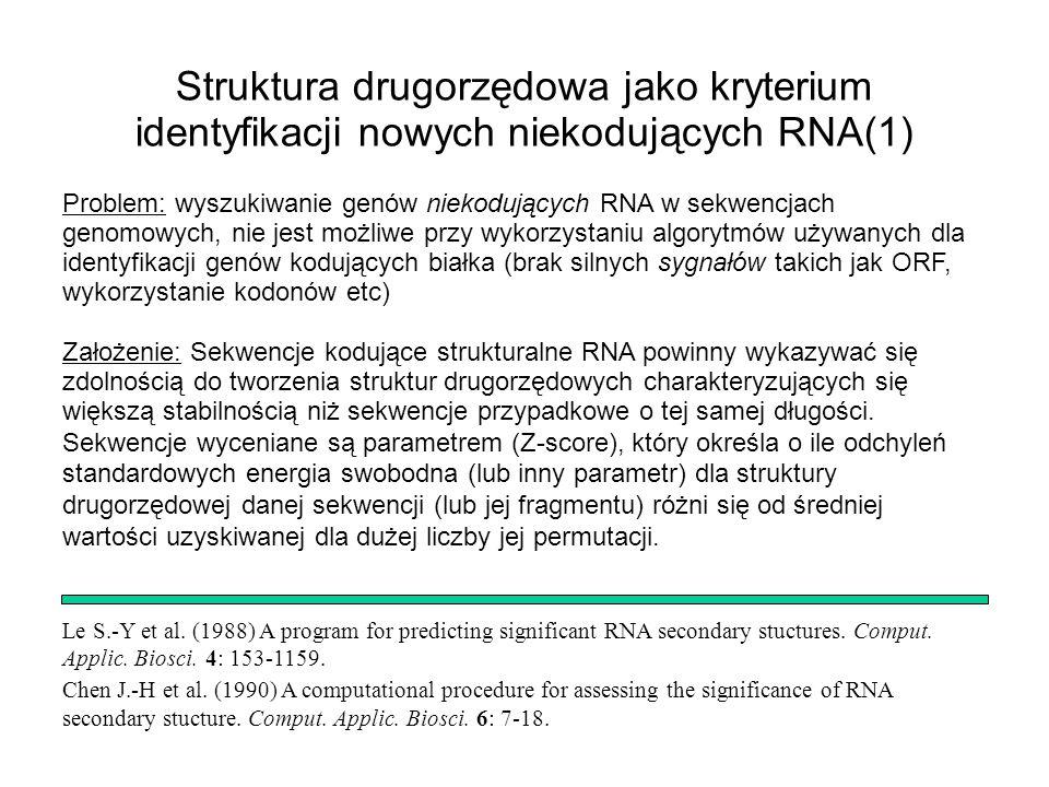 Le S.-Y et al. (1988) A program for predicting significant RNA secondary stuctures. Comput. Applic. Biosci. 4: 153-1159. Chen J.-H et al. (1990) A com