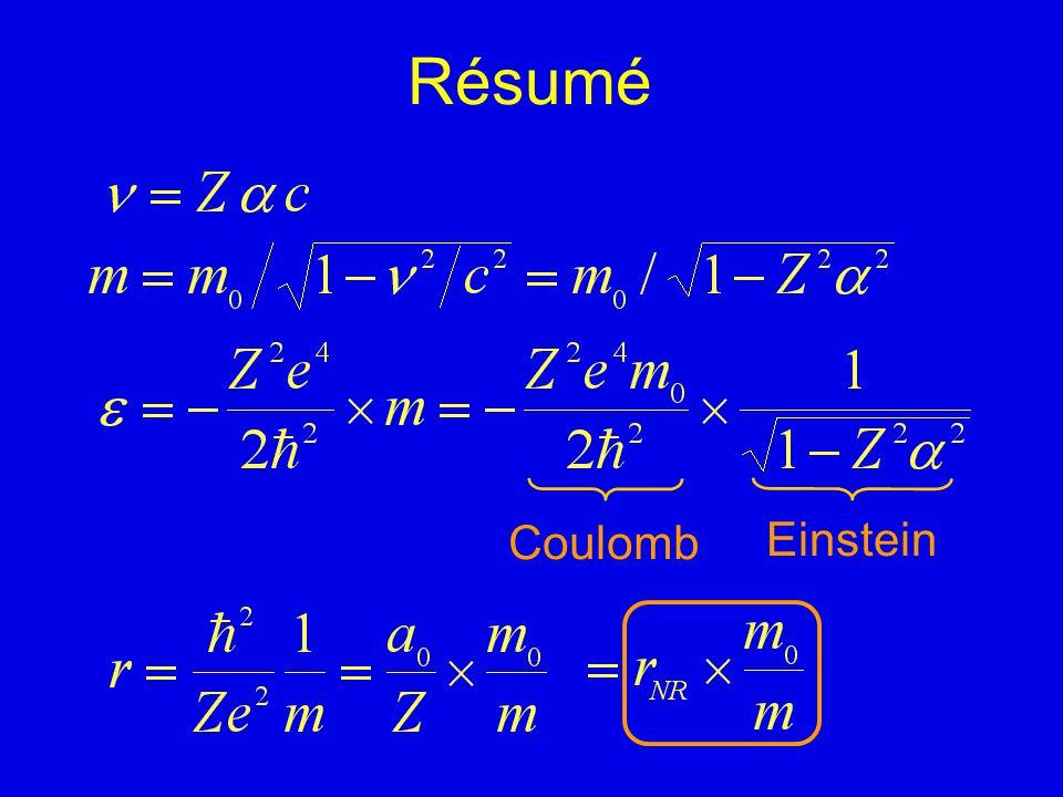 Résumé Coulomb Einstein