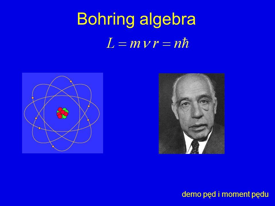 Bohring algebra demo pęd i moment pędu
