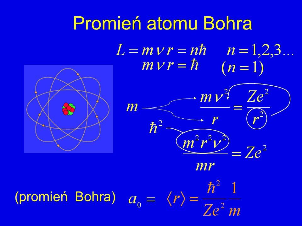 Promień atomu Bohra (promień Bohra)