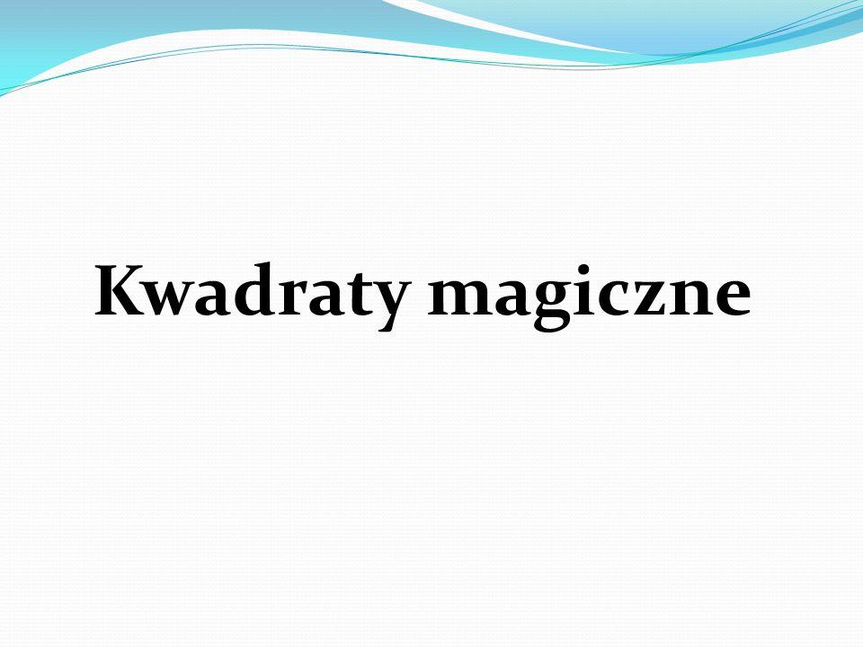 Kwadraty magiczne