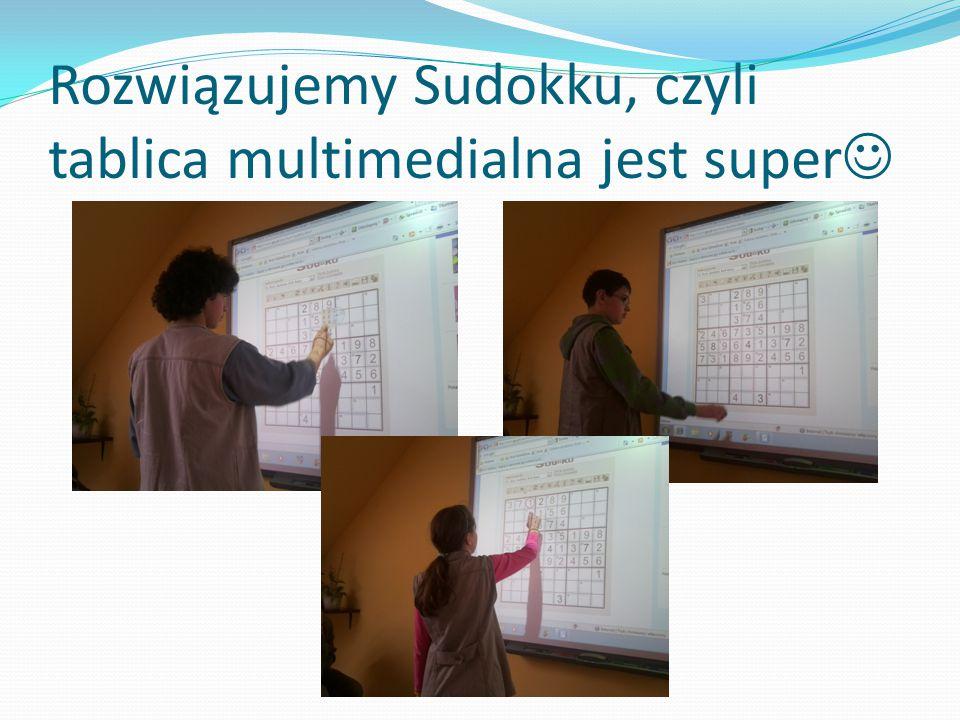 Rozwiązujemy Sudokku, czyli tablica multimedialna jest super