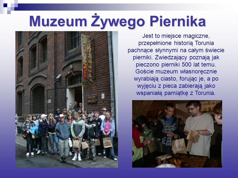 Muzeum Żywego Piernika Jest to miejsce magiczne, przepełnione historią Torunia pachnące słynnymi na całym świecie pierniki.