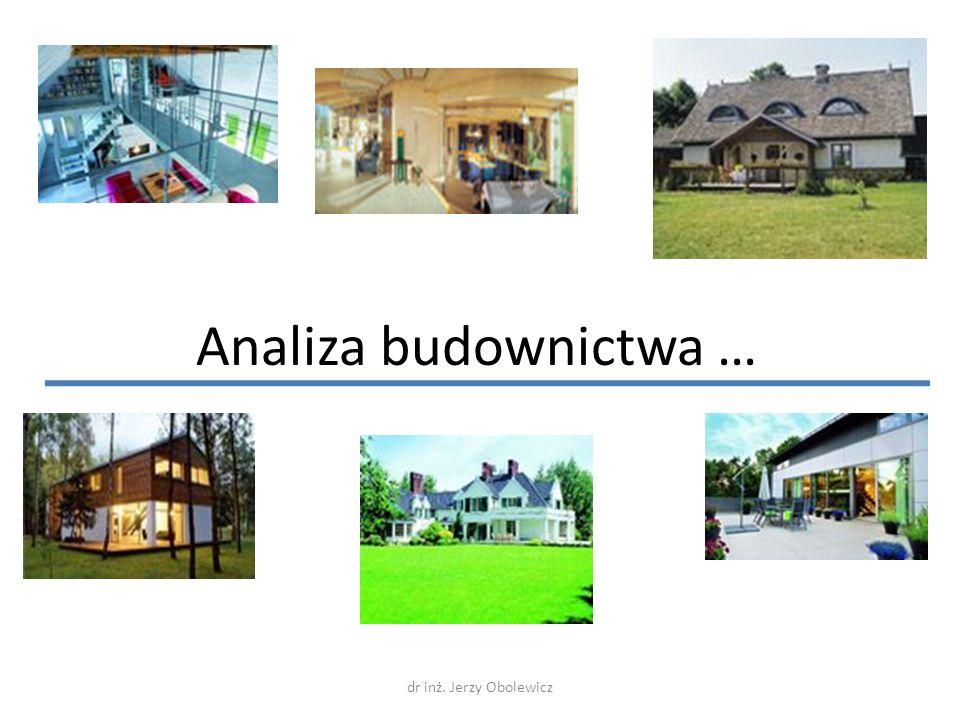 Analiza budownictwa … dr inż. Jerzy Obolewicz