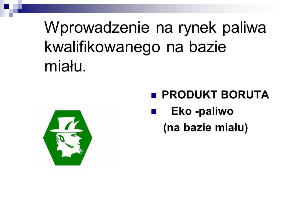 Wprowadzenie na rynek paliwa kwalifikowanego na bazie miału. PRODUKT BORUTA Eko -paliwo (na bazie miału)