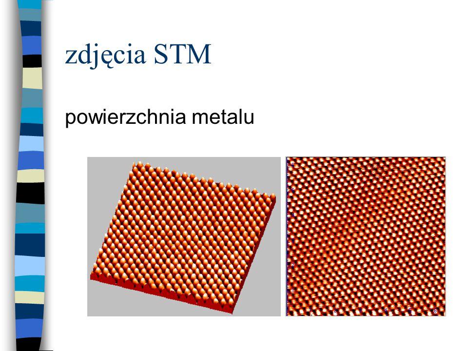 zdjęcia STM powierzchnia metalu