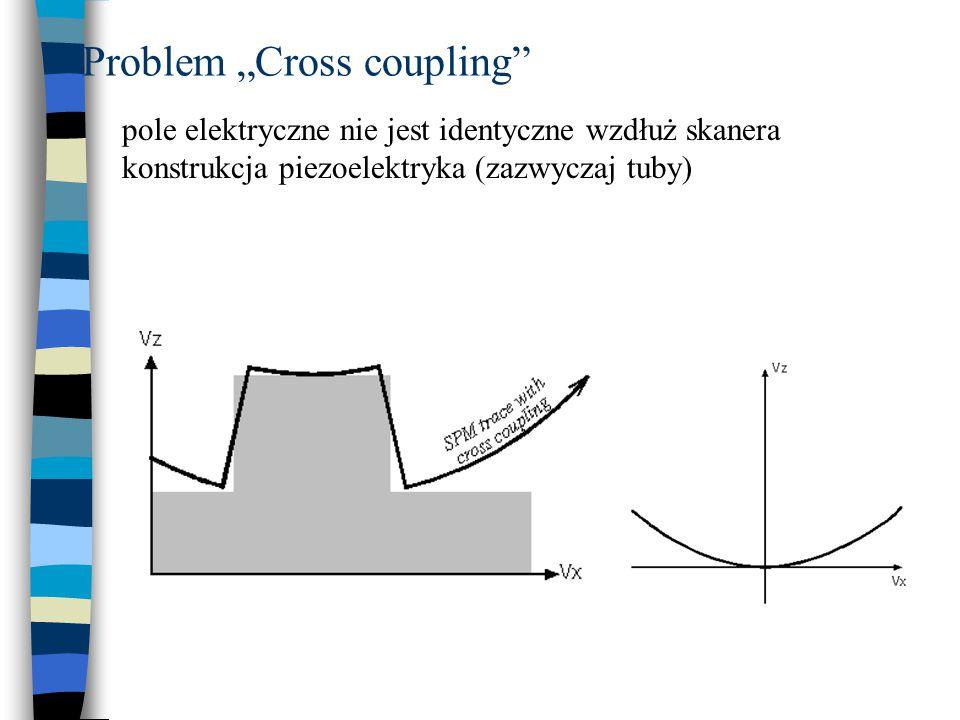 """Problem """"Cross coupling"""" pole elektryczne nie jest identyczne wzdłuż skanera konstrukcja piezoelektryka (zazwyczaj tuby)"""