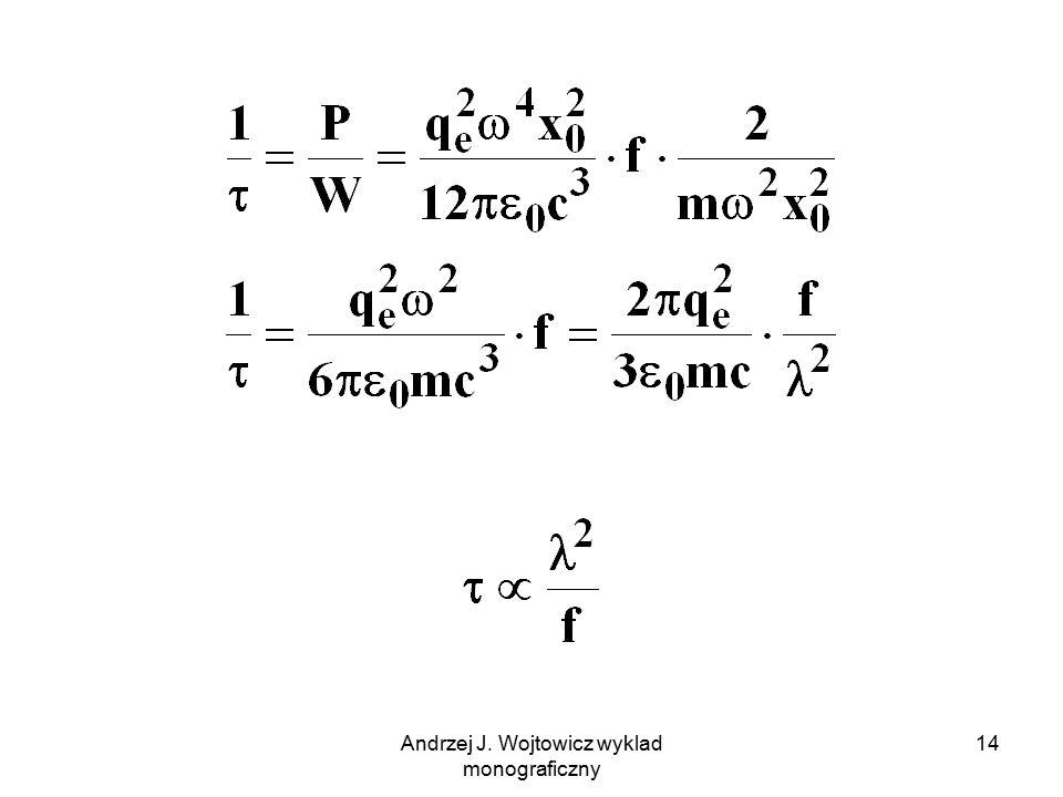Andrzej J. Wojtowicz wyklad monograficzny 14