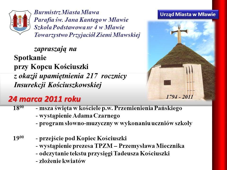 Urząd Miasta w Mławie Burmistrz Miasta Mława Parafia św.