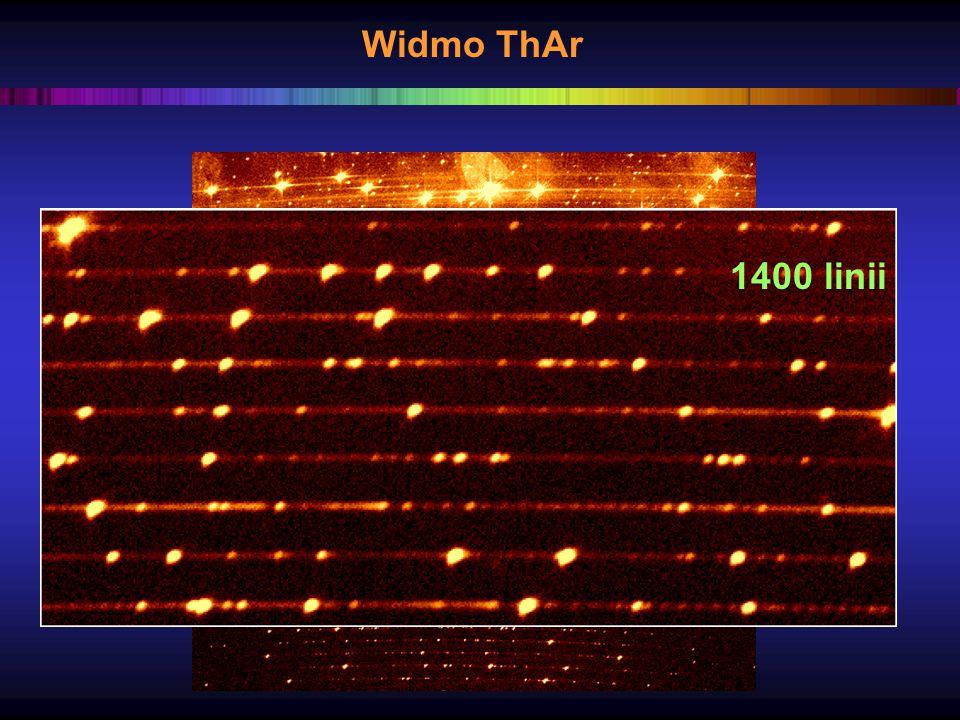 Widmo ThAr 1400 linii
