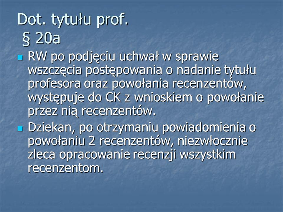 Dot. tytułu prof.