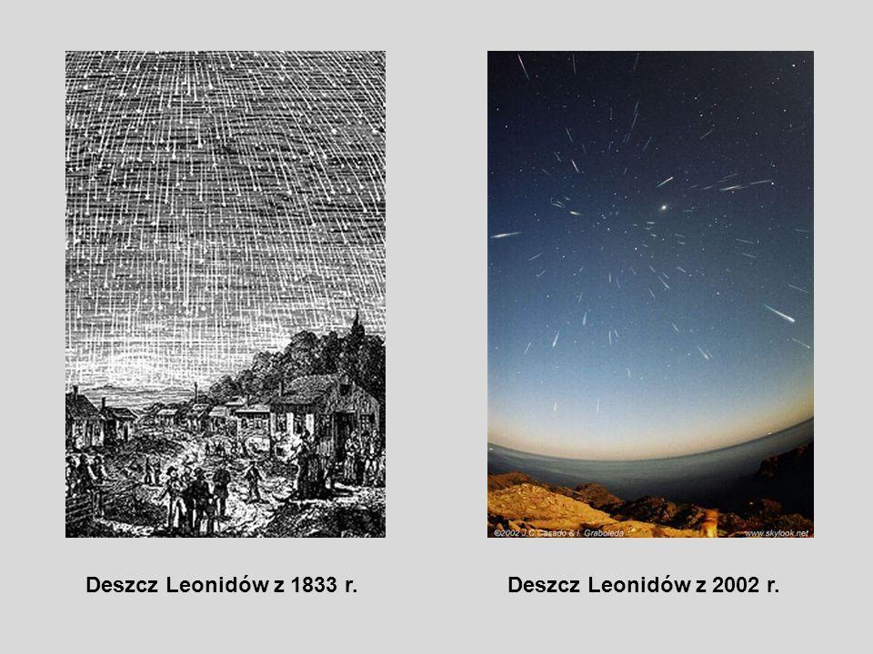 Deszcz Leonidów z 1833 r.Deszcz Leonidów z 2002 r.