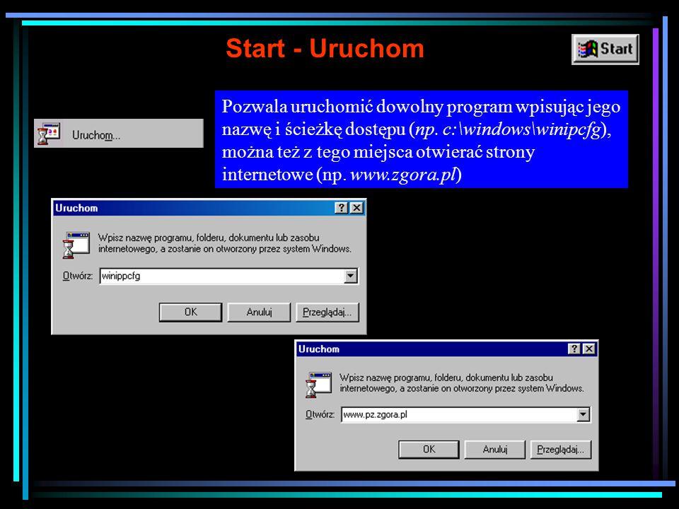 Zamykanie systemu Przed wyłączeniem zasilania komputera należy poprawnie zamknąć system.