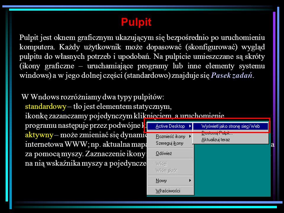 Zakładanie nowego katalogu Foldery w systemie Windows odpowiadają katalogom na dysku.