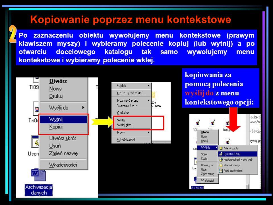 Techniki kopiowania i przenoszenia obiektów 1.