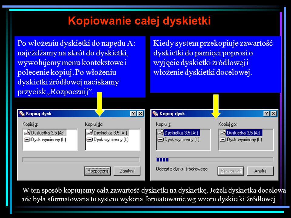 Zaznaczanie kilku plików, grupy plików (np.