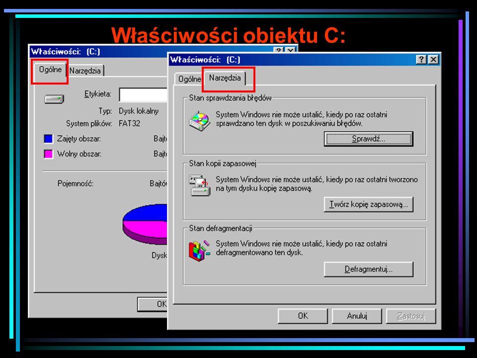 Właściwości skrótu do C: Na karcie skrót możemy zmienić ikonę oraz obiekt docelowy, do którego odnosi się skrót