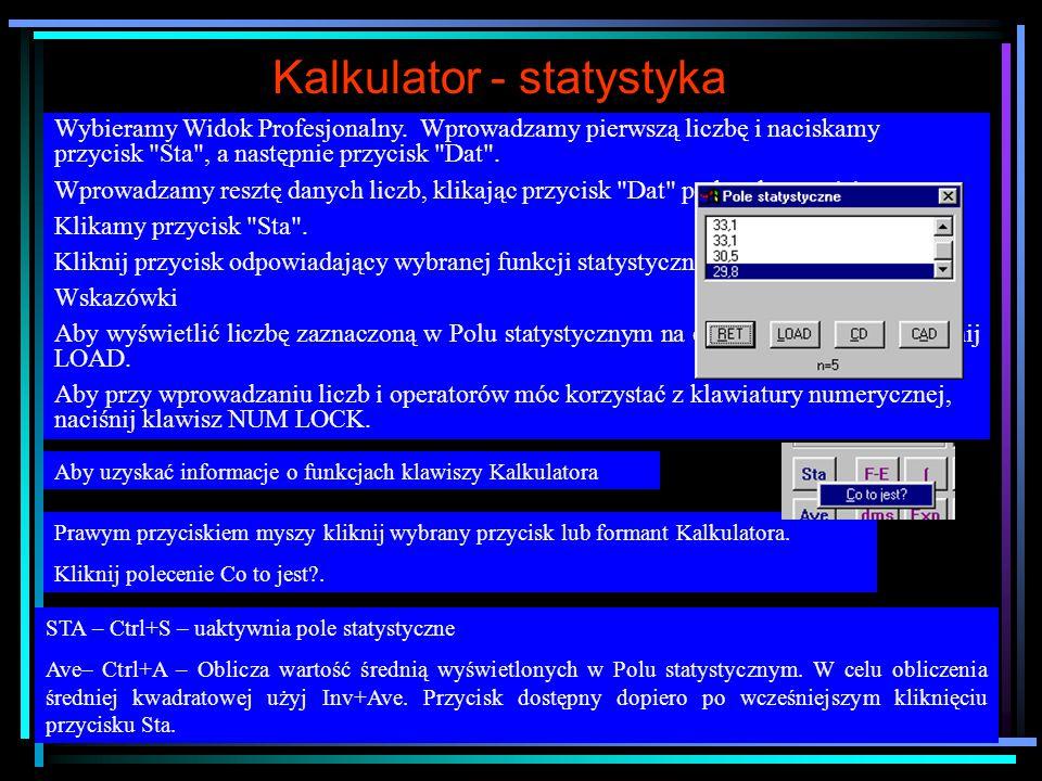 Kalkulator Widok – Standardowy Widok – Profesjonalny