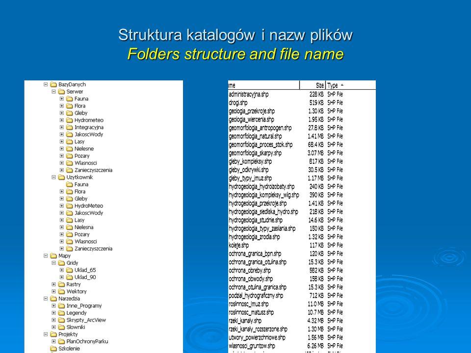 Struktura katalogów i nazw plików Folders structure and file name