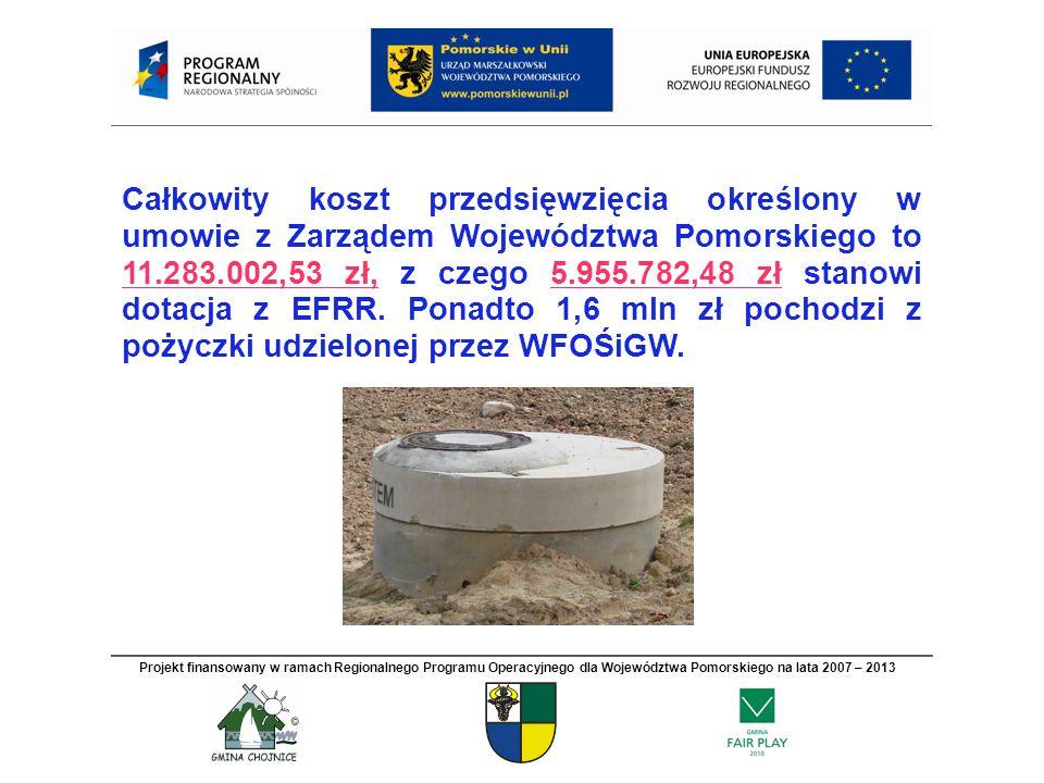 PRZEDMIOT PROJEKTU Budowa wodociągu i kanalizacji sanitarnej oraz osiedlowej oczyszczalni w południowej i wschodniej części aglomeracji Chojnice.