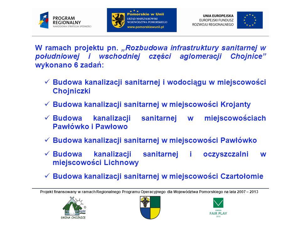 Budowa kanalizacji sanitarnej w miejscowości Czartołomie