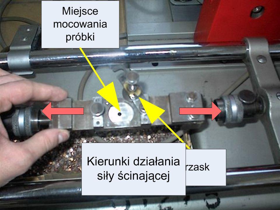 Laboratorium Federal Mogul Bimet S.A. Technologiczna próba ścinania Polega na pomiarze wielkości siły potrzebnej do ścięcia (oddzielenia) jednej warst