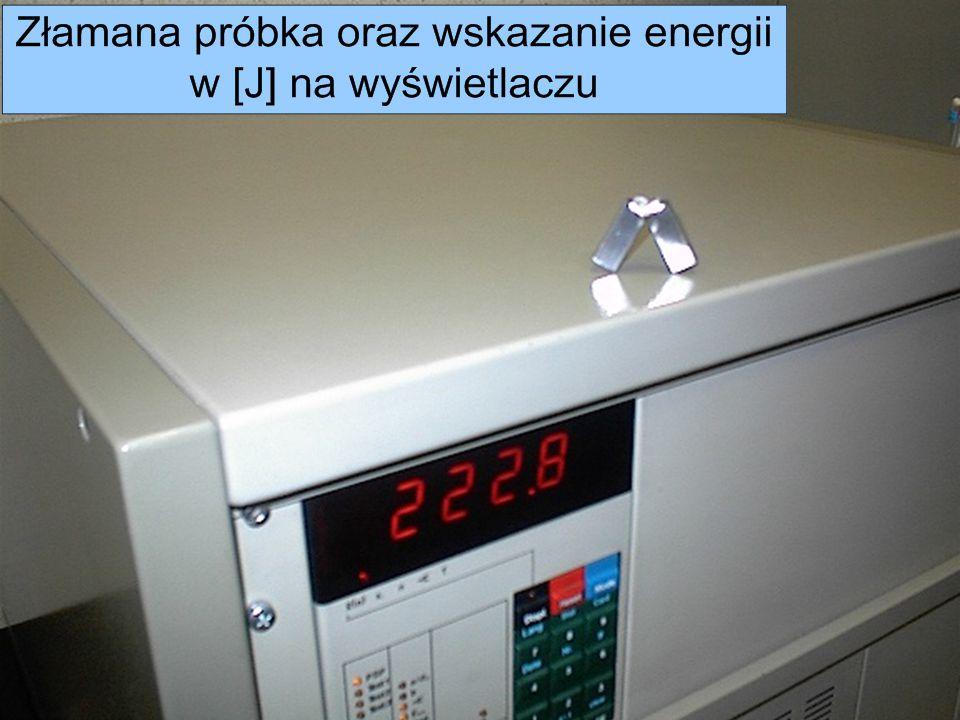 Metrotest Sp. z o. o. Próby udarnościowe wykonywane są na maszynie Zwick 5111 Automatyczny pomiar wielkości udarności