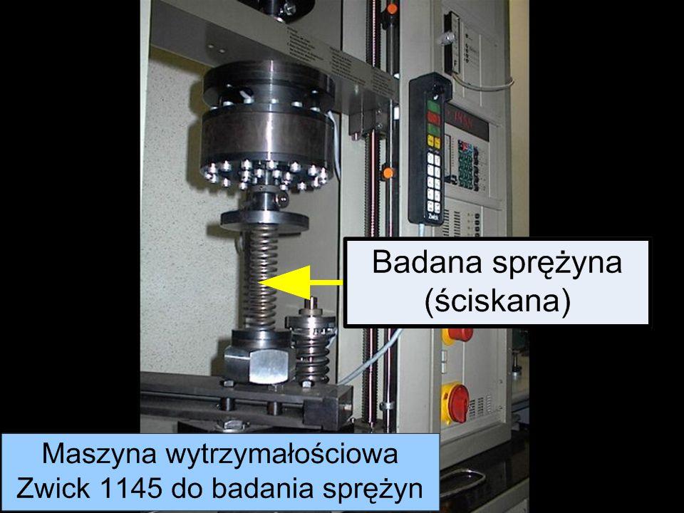 Metrotest Sp. z o. o. Badanie charakterystyk sprężyn talerzowych i śrubowych oraz wzorcowanie kluczy dynamometrycznych odbywa się na maszynie pomiarow